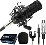 Techtest Recording Microphone Bm 800 Singing Mic Bm800 Dynamic Condenser with Shock Mount
