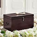 Premium Wood Pet Casket (Medium) - Hand Crafted Pet Coffin Suitable for Dogs, Cats and Other Furry Friends