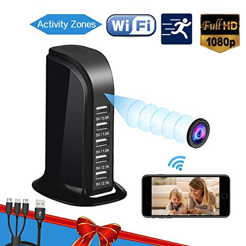 Hidden Camera Spy Camera, WiFi Hidden Camera with Remote Viewing, Hidden Cameras 1080P Video Recorder Wireless Nanny Camera for Home Security with Motion Detection 2020 Upgraded Version