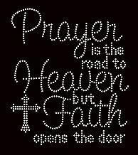 Prayer is the road to Heaven Religious Rhinestone Transfer