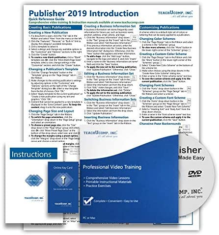 Microsoft Publisher 2019 DELUXE Training Tutorial Course Video Lessons PDF Instruction Manual product image
