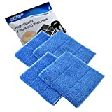 HQRP 4-Pack Blue Steam Mop Pads Compatible with HAAN SI-35 MS-30 SV-60 SI-25 SI-40 SI-60 SI-70 FS-20 MS-35 SI-75 BS-20 SI-38 SI-45 SI-46 SI-77 BS-10 HD-50 Steamers, RMF2X RMF4X Replacement