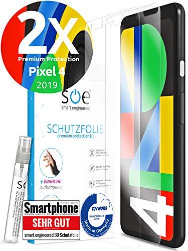 [2 Stück] 3D Schutzfolien kompatibel mit Google Pixel 4 - [Made in Germany - TÜV NORD] – HD Displayschutz-Folie - Hüllenfreundlich – Transparent – kein Schutz-Glas - Panzer-Folie TPU - Klar