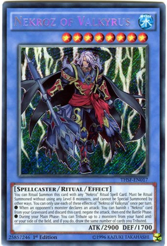 YuGiOh   THSF-EN017 Unlimited Ed Nekroz of Valkyrus Secret Rare Card - ( The Secret Forces Yu-Gi-Oh  Single Card )