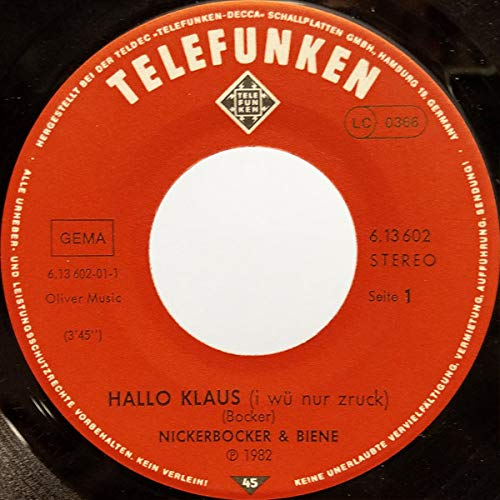 Hallo Klaus.. (1982) / Vinyl single [Vinyl-Single 7'']