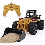ANTAPRCIS 1:18 RC Shovel Loader Remote Control Car, 6 Channel Alloy Construction Vehicle for Kids