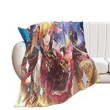 Manta elegante y acogedora Arknights Games Exusiai Anime Purple Hair Niñas Camping Supervivencia y Primeros Auxilios Manta 60 x 80 pulgadas 150 x 200 cm