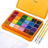 Deal on HIMI Gouche 24 Color Set with 3 Brushes