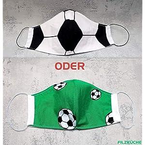 Behelfsmaske Fußball 1 Stück Kinder Teenies Männer Frauen Mundbedeckung waschbar Community-Maske