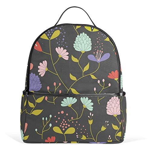 JinDoDo - Mochila de jardín de flores coloridas para la escuela, mochila informal para niñas, niños, adolescentes