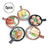 mxdmai 5er Set Miniatures Claypot Reis Mini Küchenzubehör für Puppenhaus