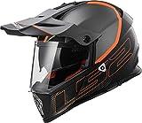 LS2Helm Motorrad MX436Pioneer Element, matt black Titanium, S