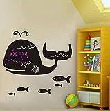 egbert anima della balena lavagna adesivi diy muro adesivi per bambini cameretta casa decorazione