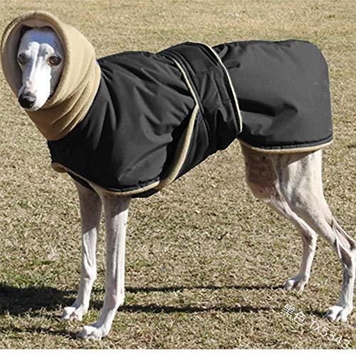FZH Ropa para Perros Gruesa y súper cálida, Chaqueta Impermeable para Perros, para Perros medianos y Grandes, Ropa de Pastor de Galgo Lobero
