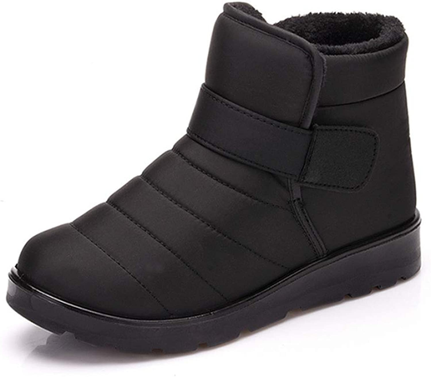 Men and Women Snow Boots Plus Fluffy Winter Outdoor Waterproof Slip On Cotton shoes Ankle Boots