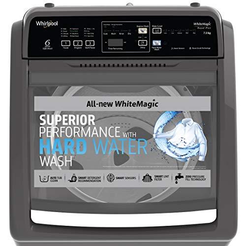 Whirlpool 7.5 Kg 5 Star Royal Plus Fully-Automatic Top Loading Washing Machine (WHITEMAGIC ROYAL PLUS 7.5, Grey, Hard Water Wash) 3