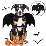 Cane Costume di Halloween, Legendog Vestiti Halloween per Ccani Costume da Pipistrello Creativo Costume da Festa in Cane con Guinzaglio