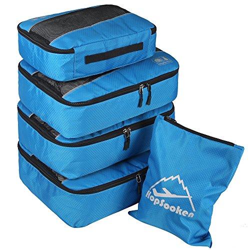 Hopsooken, Organizer per valigie Unisex, adulto (solo valigia) Ragazza Per ragazzi Uomo Donna Blue m