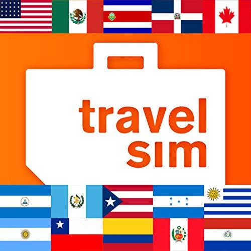 Prepaid TravelSIM America:1GB in USA,Kanada,Mexiko,Costa Rica,die Dominikanische Republik,Guatemala,Honduras,Nicaragua,Puerto Rico,Argentinien,Brasilien,Chile,Kolumbien,Paraguay,Peru,Uruguay
