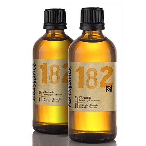 Naissance Olio essenziale di Citronella Puro al 100%, Vegano, senza OGM - 200ml(2x100ml) (n°182)