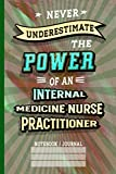 Never Underestimate Internal Medicine Nurse Practitioner: Notebook (6x9 100 Pages) Gift for Colleagues, Friends and Family
