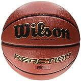Wilson Pelota de baloncesto para cualquier superficie, Competición, Pavimento deportivo, Tamaño 5, REACTION, Marrón, WTB1237XBDBB