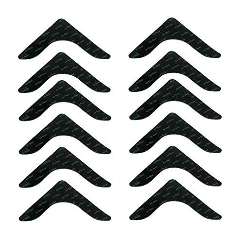 HEALLILY 12 Stück Teppichklebestreifen Teppichgreifer Anti-Rutsch-Teppich Teppich Ecken Klebeband für Wohnheim zu Hause (Rechtwinklig Schwarz)