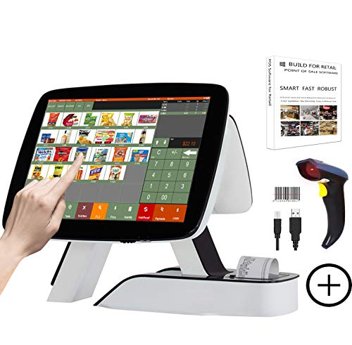ZHONGJI Registrierkasse Kassensystem Kassensoftware integrierter Thermodrucker Gastronomie Handel Einzelhandel Restaurant POS Windows 4G 64G WIFI SET02