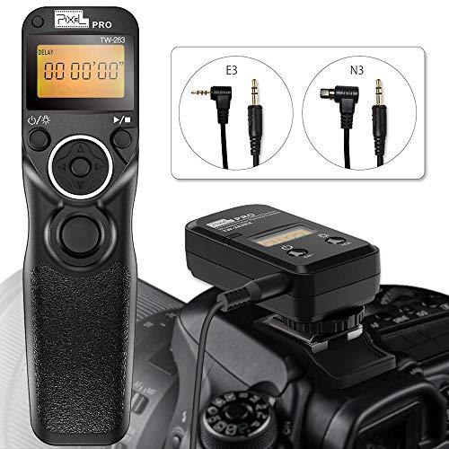 Wireless Shutter Release for Canon, Pixel TW-283 E3/N3 Wireless Remote Control Timer Shutter Release Cable for Canon EOS 1300D 1100D 760D 750D 5D IV III 1D 6D II 7D