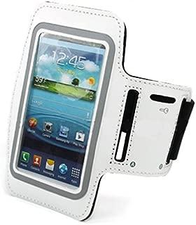 Sports Workout Armband White Premium Neoprene Running Gym Case for Sprint HTC EVO 4G LTE - Sprint Samsung Galaxy Nexus LTE - Sprint Samsung Galaxy S3 SPH-L710 - Sprint Samsung Galaxy S4 SPH-L720
