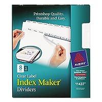 ave11437–AveryインデックスメーカークリアラベルDividers