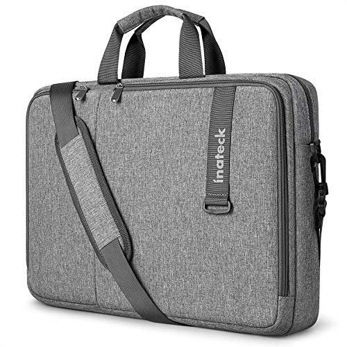 Inateck 15.6 inch Business Laptop Case, Large Capacity Laptop Sleeve Shoulder Messenger Bag for Women and Men, Briefcase Bag for Chromebook, Notebook, Ultrabook