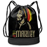 Bob Marley Drawstring Backpack Sports Athletic Gym Sack Men Women Kids