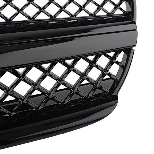511IHLADowL - BTSDLXX Auto Front Sport Kühlergrille, für Mercedes Benz R230 SL-Class SL500 SL600 SL55 AMG 2003-2007 Nierengitter Stoßstangengrill Kühlung Kühler Luftansauggitter Dekoratives Zubehör, ABS