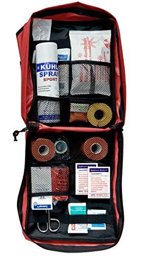 Erste-Hilfe-Rucksack mit Sport-Füllung + DIN 13164 Verbandmaterial