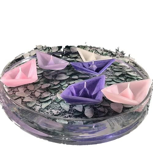 6 coloratissime candele galleggianti a forma di barchetta centrotavola segnaposto matrimonio comunione cresima battesimo decorazione tavola originale cerimonie
