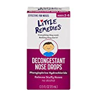 Little Remedies Decongestant Nose Drops | Phenylephrine Hydrochloride, Alcohol-Free | 0.5 Fluid Ounces | 1-Pack