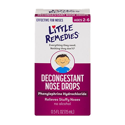Little Remedies Decongestant Nose Drops   Phenylephrine Hydrochloride, Alcohol-Free   0.5 Fluid Ounces   1-Pack