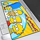 ZDVHM Estesa Gaming Mouse Pad Simpson Famiglia Grande Tastiera Tappetino Mouse Cartoon Anime Impermeabile Antisdrucciolevole del Gioco Mousepad for Office Home PC Desktop Tabella Mouse Pad