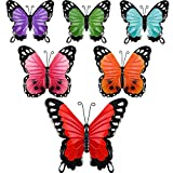Blulu 6 Pezzi Farfalla di Metallo Farfalla Metallo da Parete Arte Scultura Decorazione a Parete Inspirational Farfalla Appeso a Parete per Ufficio Casa Decorazione, 3 Taglie, 6 Colori