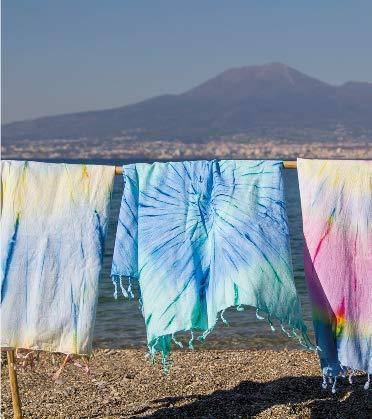 FANCY HOME Toalla de playa Skyros – Multicolor, 90 x 170