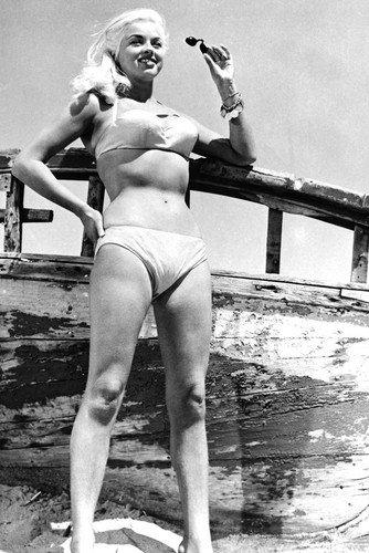 Mini-Poster, Motiv: Diana Dors Bikini, 28 x 43 cm
