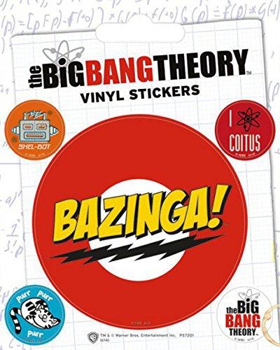 1art1 80736 Big Bang Theory - Bazinga, Vinyl Sticker Set Poster-Sticker Tattoo Aufkleber 12 x 10 cm