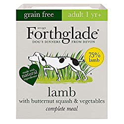 Pack of 18 Natural grain free wet dog food in 395g trays High meat content of 75 Percent which provides a great source of Protein for your dogs aged 1 year and above Our complete dog food is grain free which is perfect for dogs with sensitive tummies...