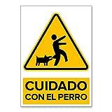 Señal Cuidado con el Perro | Señalética en Material...