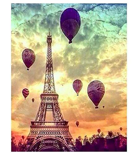 Torre Eiffel Y Globo Aerostático DIY 500 Piezas Rompecabezas Ideal para Relajación Meditación Pasatiempo Cumpleaños para Papá Madre