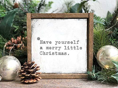 Ced454sy ingelijst kerstdecoratie hebben zelf een vrolijk klein kerstmis muur kunst houten bord boerderij kerstversieringen