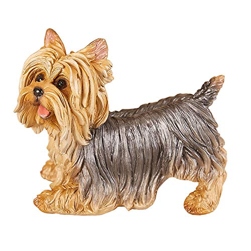 Danmu 1Pc of Polyresin Yorkshire Terrier Dog Statue Garden Statues, Outdoor Statues, Garden Ornaments, Yard Statue for Home and Garden Decor (8 3/5' x 4 7/10' x 6 2/5')