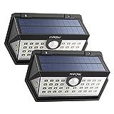 [Nouvelle Génération] Mpow Lampe Solaire Extérieur 2 Pack 40 LED Spot Solaire Etanche IP65, Détecteur de Mouvement, 3 Modes Intelligents, Grand Angle pour Allée, Escalier, Jardin, Mur, Maison, Patio