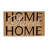 Relaxdays Paillasson Fibres de Coco Tapis de Sol Tapis entrée Home Sweet Home HxlxP: 1,5 x 75...